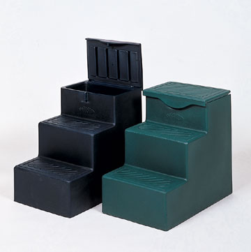 Horse Mounting Block With 3 Steps And Storage Area