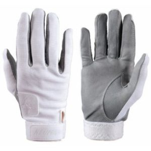 neumann tackified white summer horse riding gloves