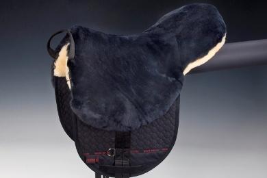 Saddle Fur Bareback Pad Riding Cushion with straps 2018 SIZE 17/'/' FREE SHIPPING