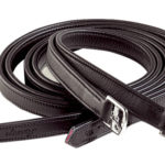 calfskin stirrup leathers in black