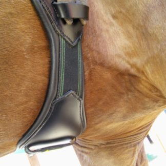 velcro view of short girth on horse