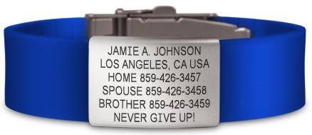 Medical Bracelet For Eventing Front