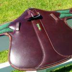 amerigo stud preotector event girth with leather