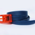 C4 Belt skinny blue red