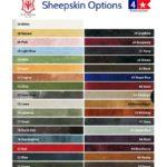 EA Mattes Sheepskin Colors Eventing Gear