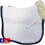 mattes eurofit dressage pad with blue pipe