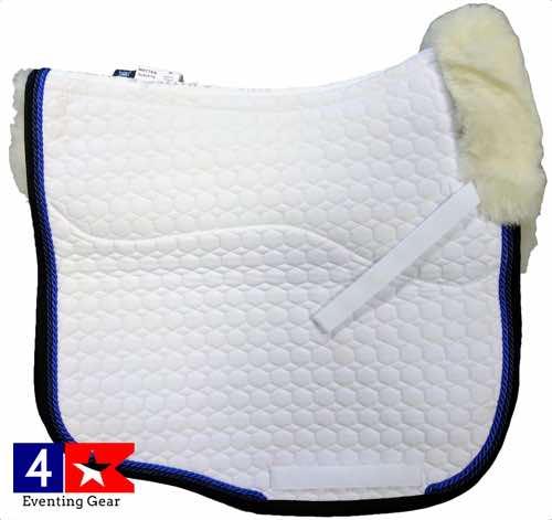 mattes eurofit dressage pad with blue pipe