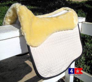mattes eurofit dressage pad with sheepskin panels