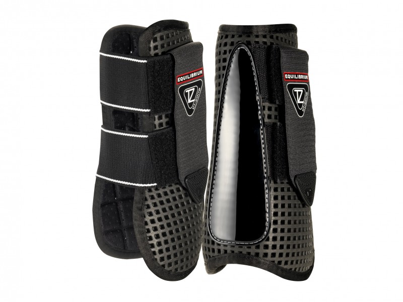 tri zone open front boots black tendon
