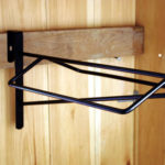 hanging metal saddle rack