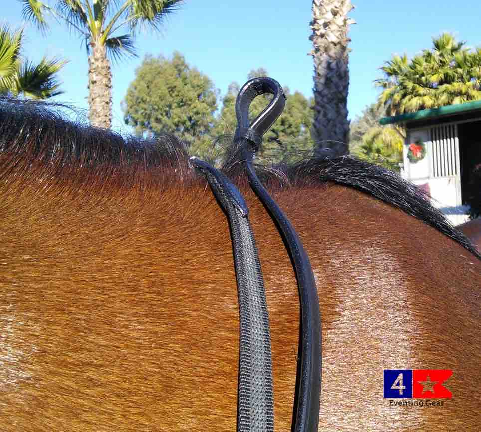 Leather Rolled Double Bridle By Vespucci Includes Reins