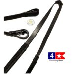 wide rubber reins by KL Select Black