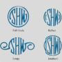 Circle Monograms