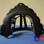 cast iron and wood bridle holder