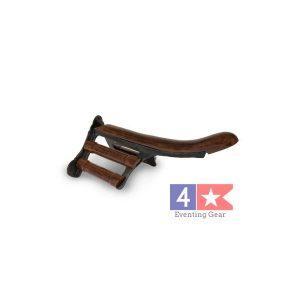 cast iron and wood saddle rack