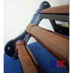 cast iron saddle rack close up