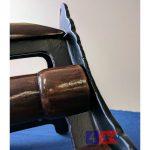 cast iron saddle rack mount close