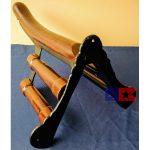 cast iron saddle rack rear side
