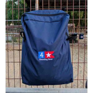 navy blue stall front storage bag