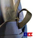 zipper stall front storage bag
